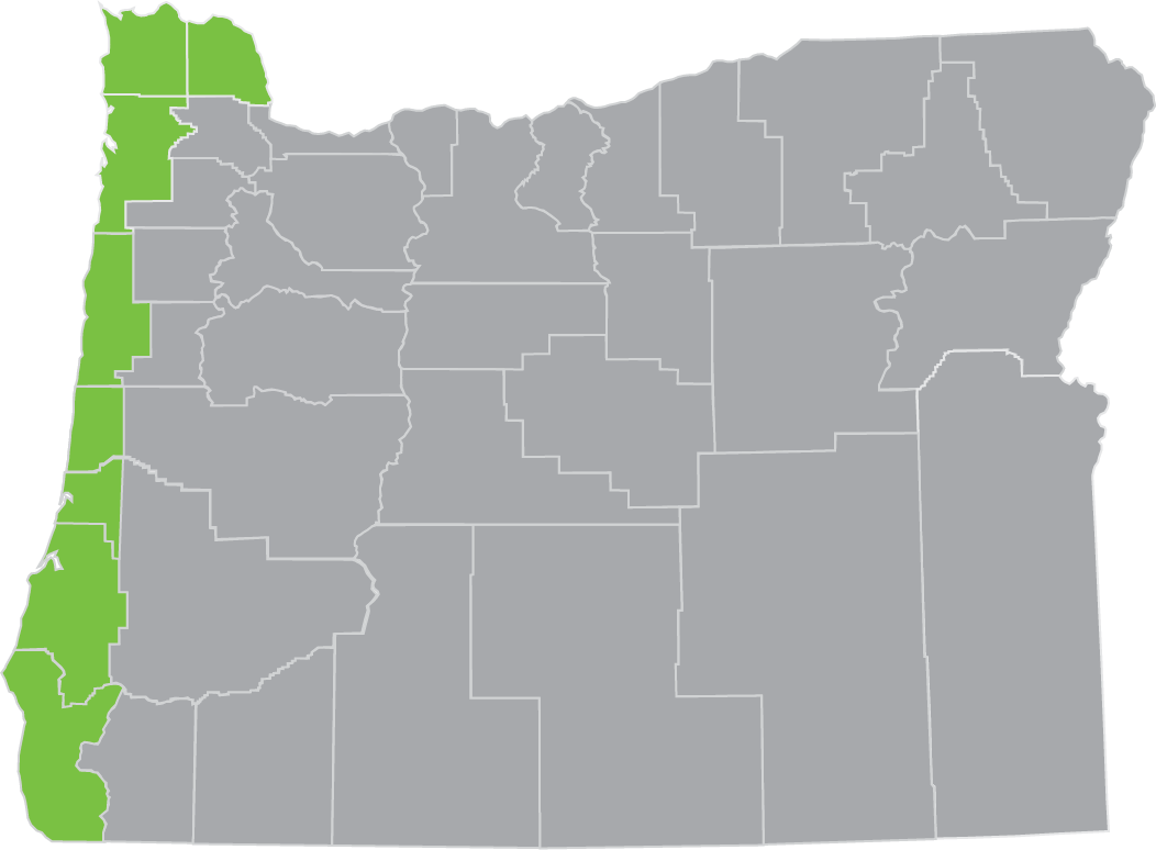 coastal Oregon region